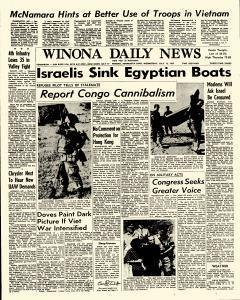 Winona Daily News, July 12, 1967, Page 1