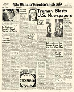 Winona Republican Herald, September 11, 1952, Page 1