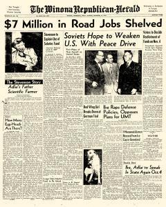 Winona Republican Herald, September 26, 1952, Page 1