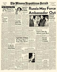 Winona Republican Herald, September 27, 1952, Page 1