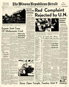 Winona Republican Herald, December 22, 1952, Page 1
