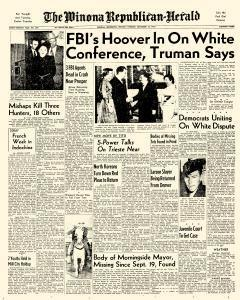 Winona Republican Herald, November 16, 1953, Page 1
