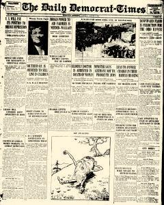 Greenville Daily Democrat Times, March 25, 1933, Page 1