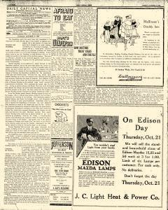 Daily Captial News, October 19, 1920, Page 1