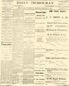 Daily Democrat, February 14, 1872, Page 1