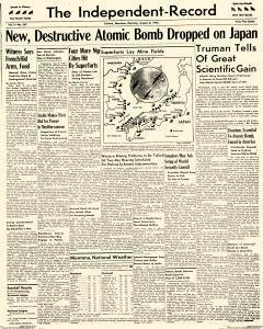 Independent Record, August 06, 1945, Page 1