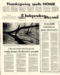Independent Record, November 23, 1972, Page 1