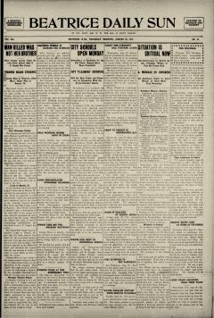 Beatrice Daily Sun, August 28, 1913, Page 1