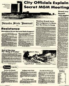 Nevada Evening Gazette, May 19, 1977, Page 1