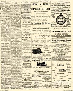 Reno Evening Gazette, August 23, 1890, Page 1