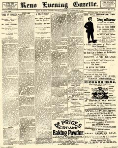 Reno Evening Gazette, December 06, 1890, Page 1