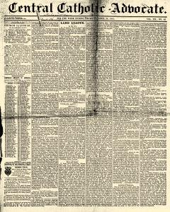 Central Catholic Advocate, April 14, 1881, Page 1