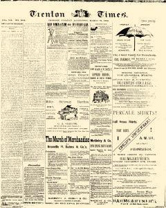 Trenton Times, March 26, 1889, Page 1