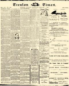 Trenton Times, February 08, 1890, Page 1