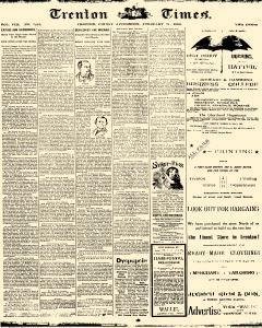 Trenton Times, February 21, 1890, Page 1