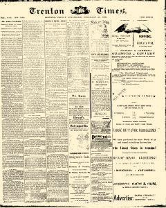 Trenton Times, February 28, 1890, Page 1