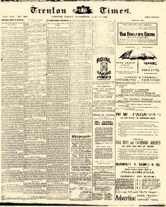 Trenton Times, June 06, 1890, Page 1