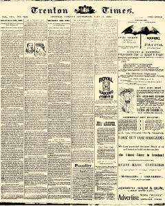 Trenton Times, June 17, 1890, Page 1