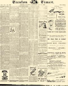 Trenton Times, July 10, 1890, Page 1