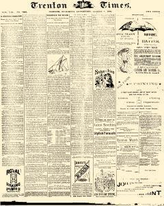 Trenton Times, August 02, 1890, Page 1