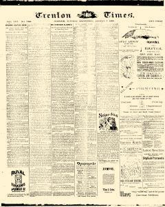 Trenton Times, August 05, 1890, Page 1