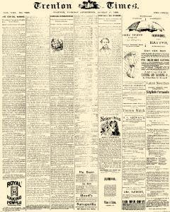 Trenton Times, August 12, 1890, Page 1