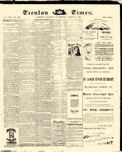 Trenton Times, August 21, 1890, Page 1