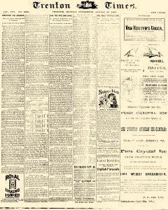 Trenton Times, August 25, 1890, Page 1