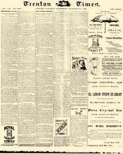 Trenton Times, September 06, 1890, Page 1