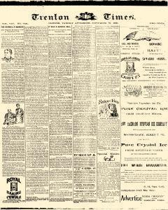 Trenton Times, September 23, 1890, Page 1