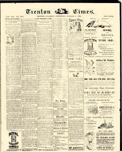 Trenton Times, October 11, 1890, Page 1