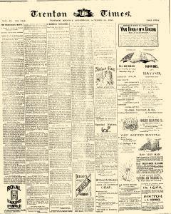 Trenton Times, October 20, 1890, Page 1