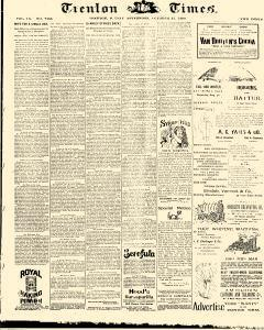Trenton Times, October 31, 1890, Page 1