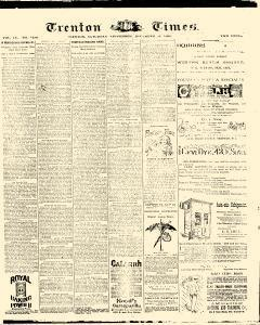 Trenton Times, December 20, 1890, Page 1