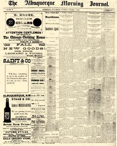 Albuquerque Journal, October 14, 1882, Page 1