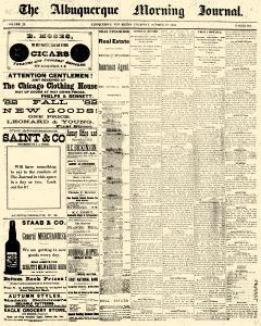 Albuquerque Journal, October 19, 1882, Page 1