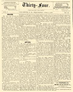 Thirty Four, April 02, 1879, Page 1