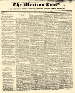 Mexican Times, March 17, 1867, Page 1