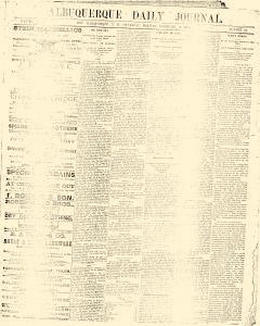 Albuquerque Daily Journal, February 02, 1882, Page 1