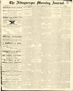 Albuquerque Daily Journal, February 10, 1882, Page 1