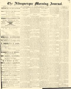 Albuquerque Daily Journal, February 11, 1882, Page 1