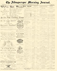 Albuquerque Daily Journal, May 10, 1882, Page 1