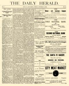 Daily Herald, September 11, 1888, Page 1