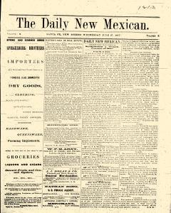 Santa Fe Daily New Mexican, June 27, 1877, Page 1