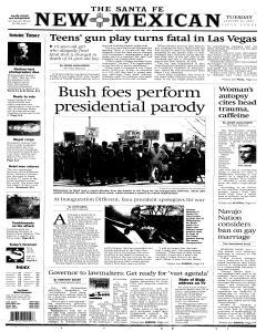 Santa Fe New Mexican, January 18, 2005, p. 12