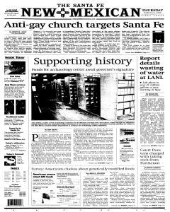 Santa Fe New Mexican, March 24, 2005, Page 1