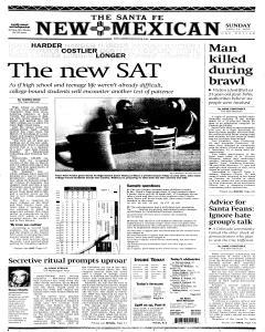 Santa Fe New Mexican newspaper archives
