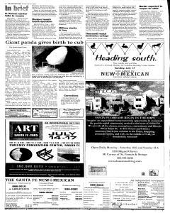Santa Fe New Mexican, July 10, 2005, Page 2