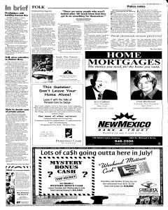 Santa Fe New Mexican, July 10, 2005, Page 13
