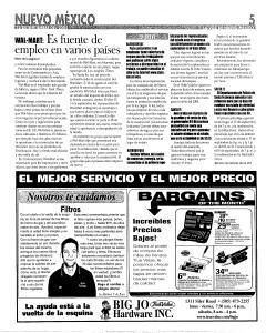 Santa Fe New Mexican, September 15, 2005, Page 35